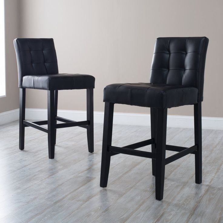 martha bonded leather bar stool