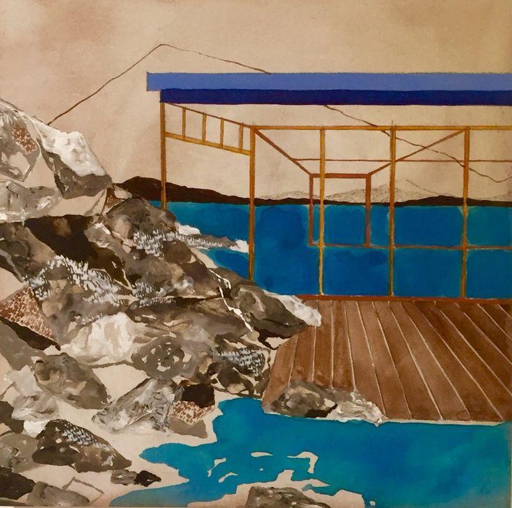 Charlotte Keates, Structure, 2016   Porthminster Gallery