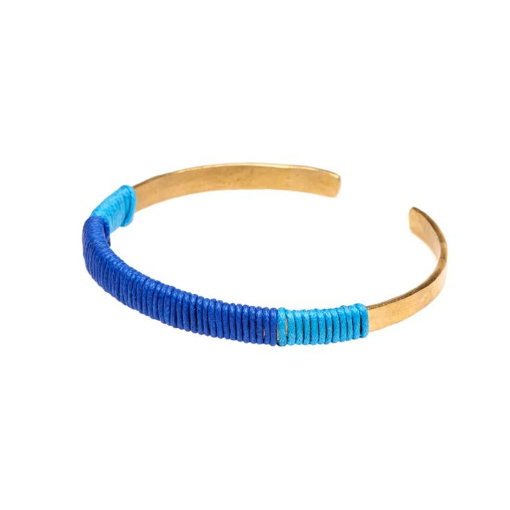 Brass & cotton bracelet. Hand crafted in Kenya by Bombolulu Workshops and Cultural Centre. Available on kulturebox.co.za
