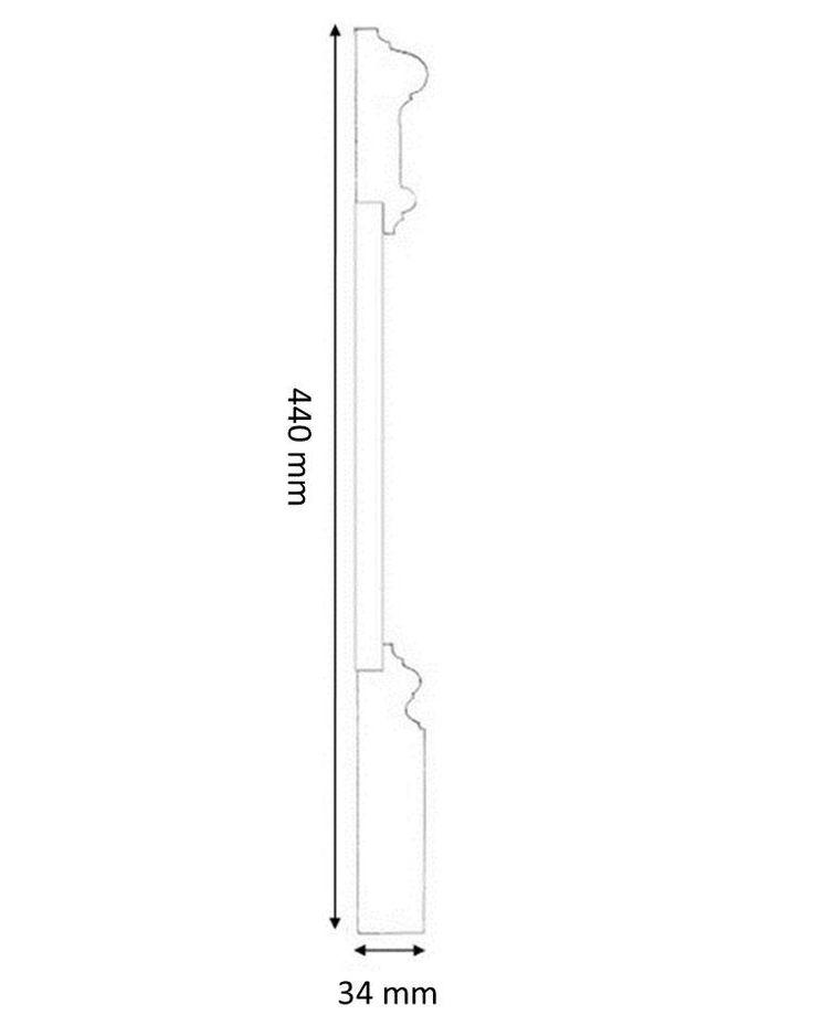 Tredelad hög golvsockel Stockholm av kvistren furu - Sekelskifte