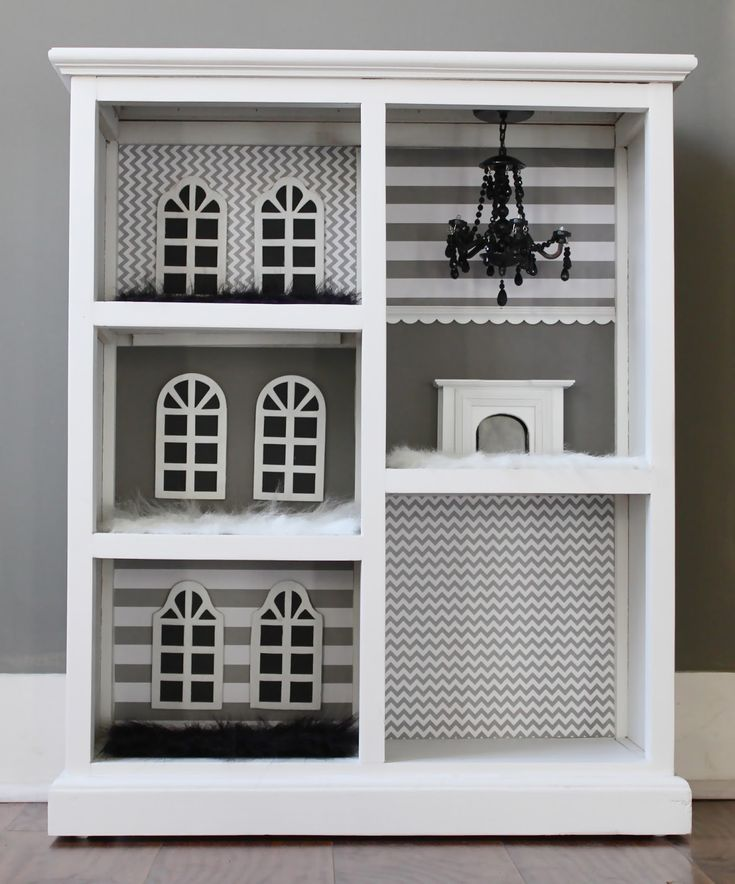 DIY Dollhouse From A Bookcase