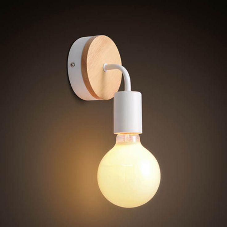 Modern breve Nordic ferro madeira pessoal Ameican Industrial Vintage Edison lâmpada de parede arandela banheiro espelho de iluminação decoração(China (Mainland))