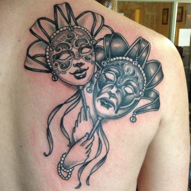 carnival tattoo - veneza mask