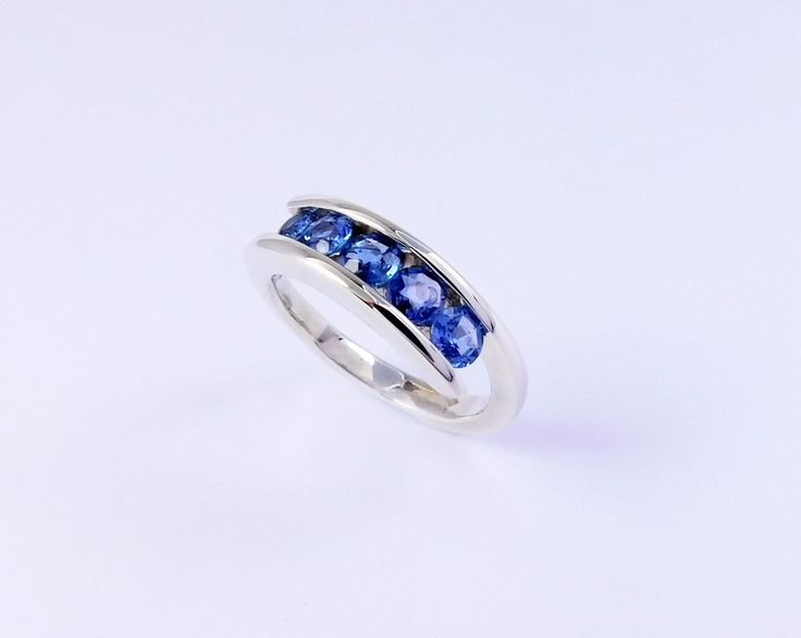 Beautiful sapphires unworn in an old brooch transformed into a ring that will be worn every day.