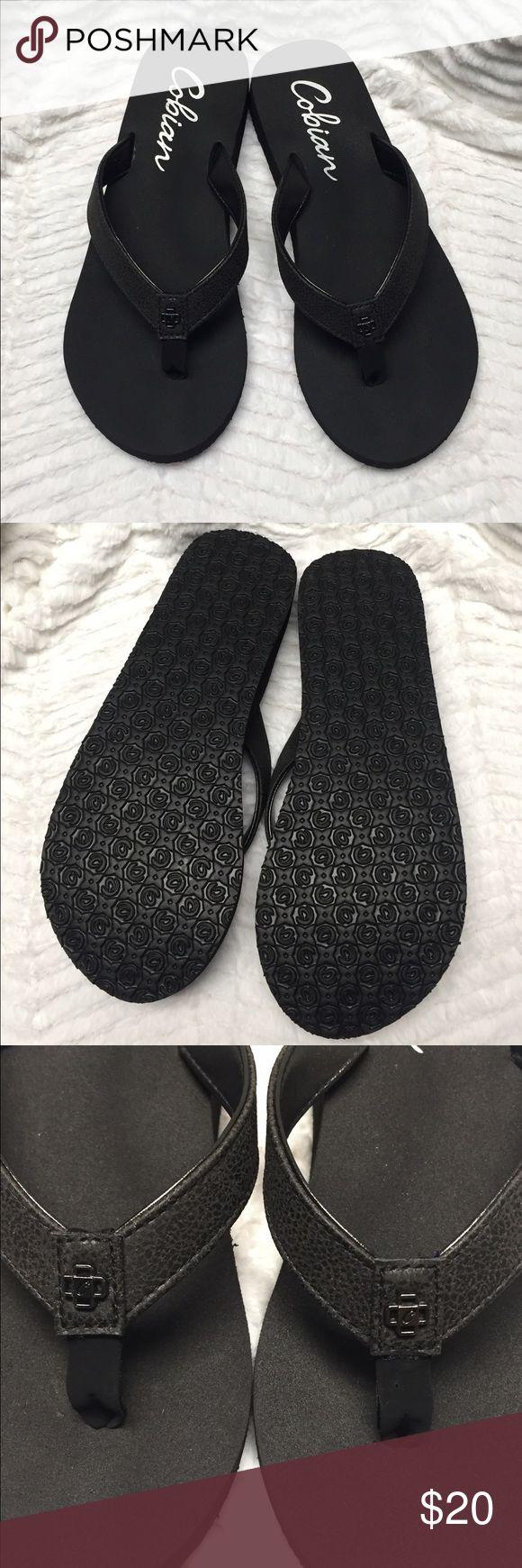 COBIAN FLIP FLOPS NWOT NWOT black flip flops, size 5-6 Cobian Shoes