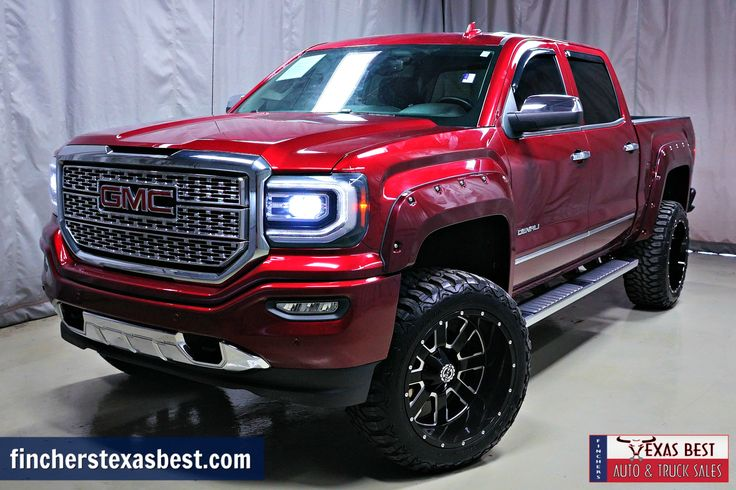 #TRUCKFORSALE: 2016 #GMC #Sierra 1500 #Denali #CustomLifted - Call or visit us TODAY! www.fincherstexasbest.com #TRUCKCITY