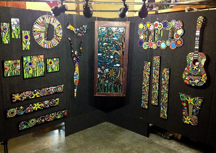"""MUST find a place in my home for some of Jill's work. Found """"Mosaic Madness"""" at the Edina Art Fair, and I love the bright colors and the amazing details!! ~ j."""