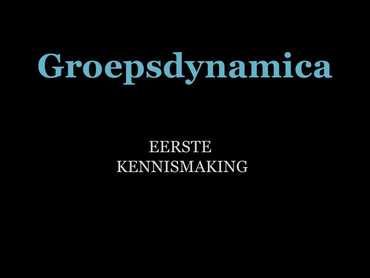 Inleiding in de groepsdynamica by Jan Jacobs, via Slideshare