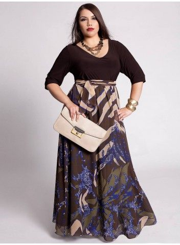 Kayleen Maxi Dress. Only $139.99. For the next two hours take an additional 30% off with code SPRING2012. IGIGI by Yuliya Raquel. #plus fashion.