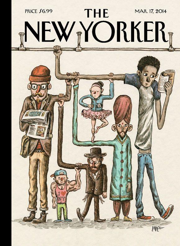 Revista The New Yorker (EE.UU) - 17 de marzo de 2014. Liniers ilustra la próxima portada de la prestigiosa revista reflejando al Nueva York cosmopolita. http://www.clasesdeperiodismo.com/2014/03/10/liniers-ilustra-la-proxima-portada-de-the-new-yorker/