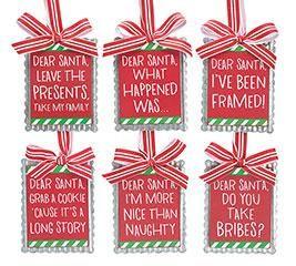 Dear Santa Message ornament