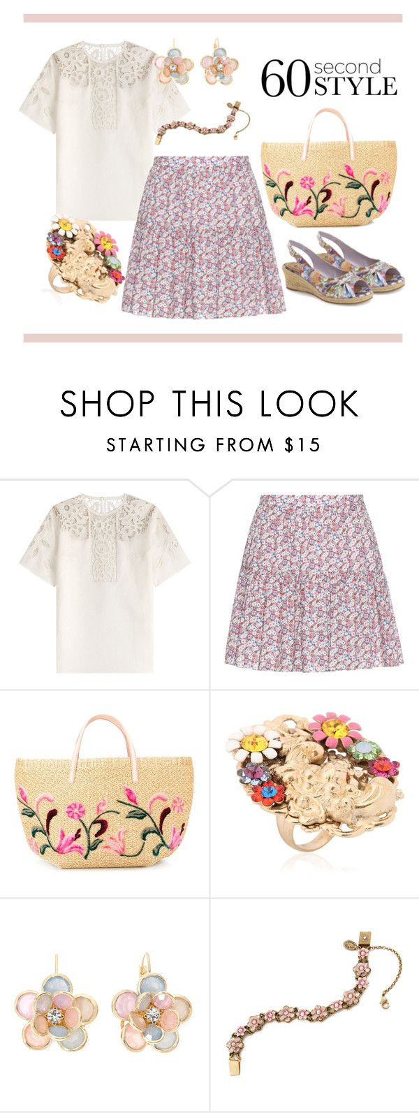 """""""НС - Сельский стиль 3"""" by look-comskaya ❤ liked on Polyvore featuring Valentino, Yves Saint Laurent, Ermanno Scervino, Halo & Co., Mixit, Bella Vita, women's clothing, women, female and woman"""