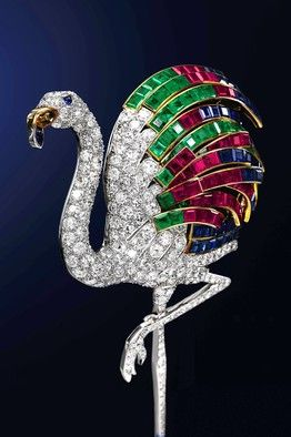 1940 flamingo brooch, made by Cartier in Paris and estimated to sell for at…