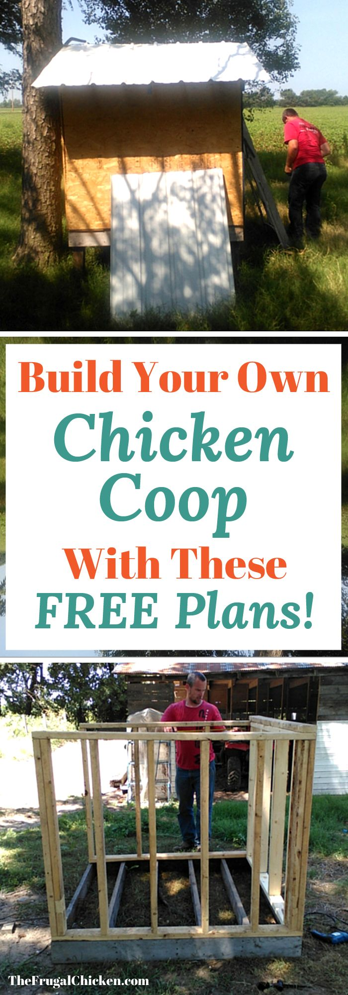 We were able to build this chicken coop for less than $100 and over 1 weekend! Here's our FREE chicken coop plans!