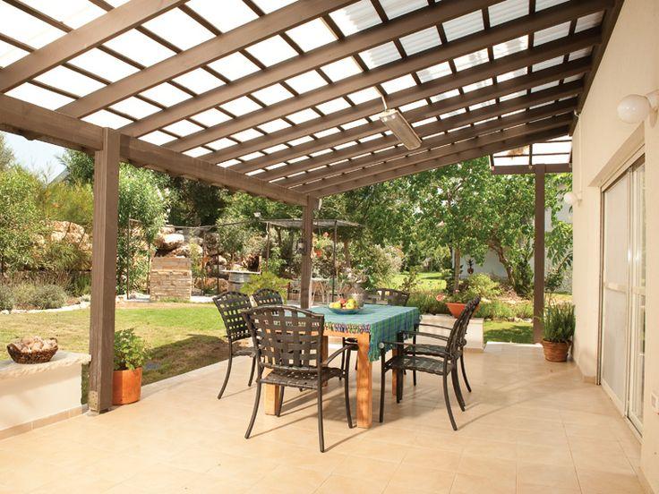 Techos para terrazas hojas de policarbonato lamina policarbonato techos pinterest israel - Techos pergolas ...