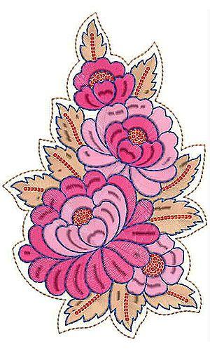 Saree Patch Embroidery Design