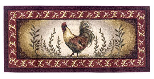 A majestic rooster is the focus of this stunning rug in stylish colors. Machine…