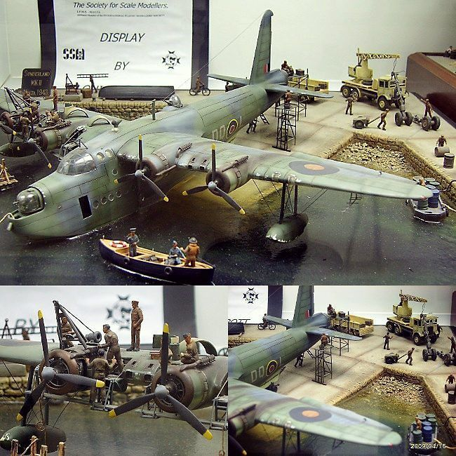 Sunderland Mk.III 1/72 Airfix diorama. Modeler Louis Carabott #scalemodel #plastimodelismo #miniatura #plasticmodel #hobby #miniatura #plastickits #usinadoskits #udk