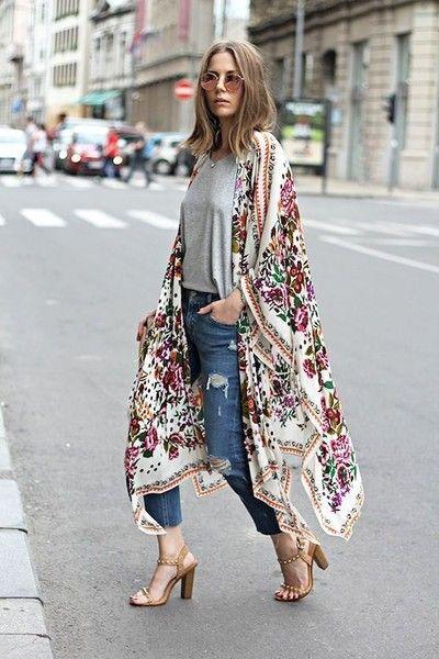 Scarf Kimono - How to Wear a Vintage Kimono - Photos