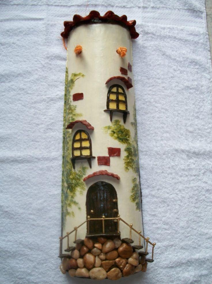 Coisas da Kátia...: Artesanatos - Telhas decoradas.