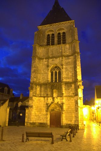 Chateauroux, France by night