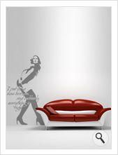 """Vinilo decorativo Flor4u®. Modelo """"Room 37"""" disponible en www.flor4u.com"""