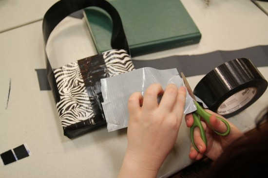 Duct tape purse tutorial.