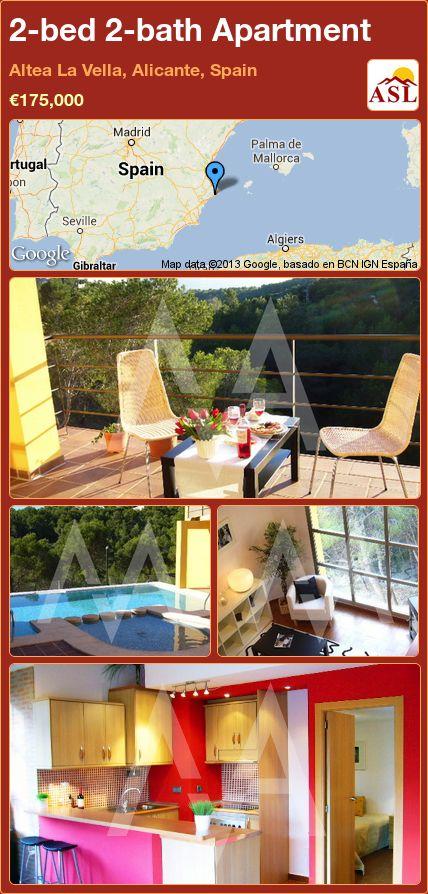 2-bed 2-bath Apartment in Altea La Vella, Alicante, Spain ►€175,000 #PropertyForSaleInSpain