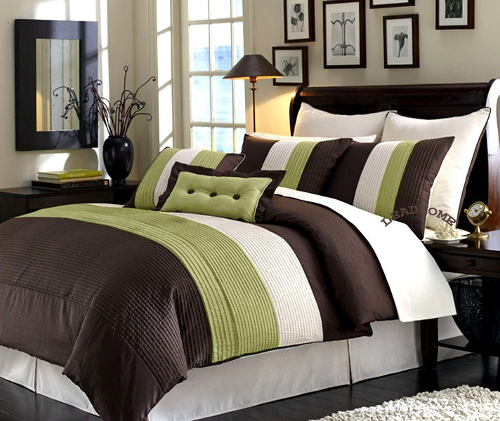 i HAVE A SET LIKE THIS- FAB Comforters, Green, Comforter Sets, Master Bedrooms, Size Beds,  Puff, Beds Sets, Bedrooms Ideas, Comforters Sets