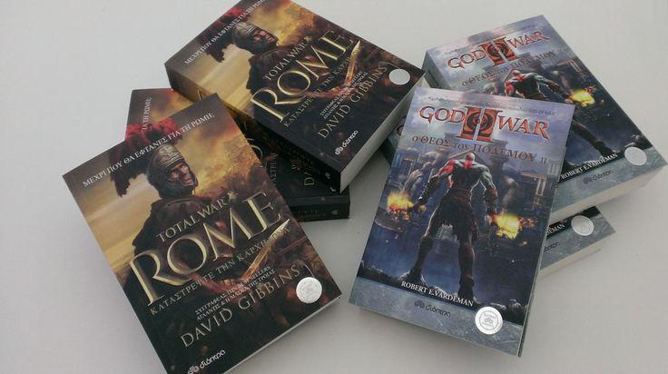 6 βιβλία Total War Rome και God of War II
