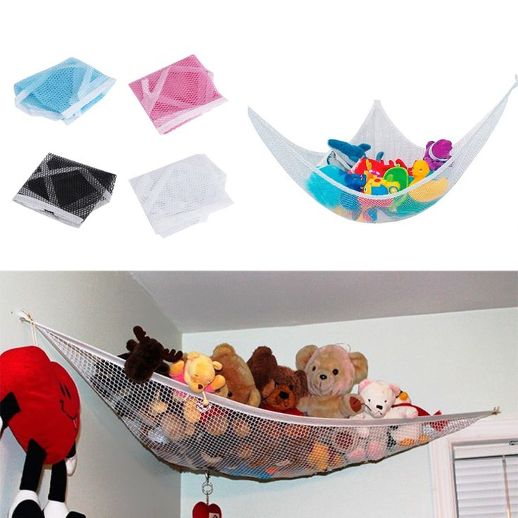 Children Room Toys Stuffed Corner Animals Large Storage Holder Net Pet Plush Toys Hammock Net Storage Holder Organize