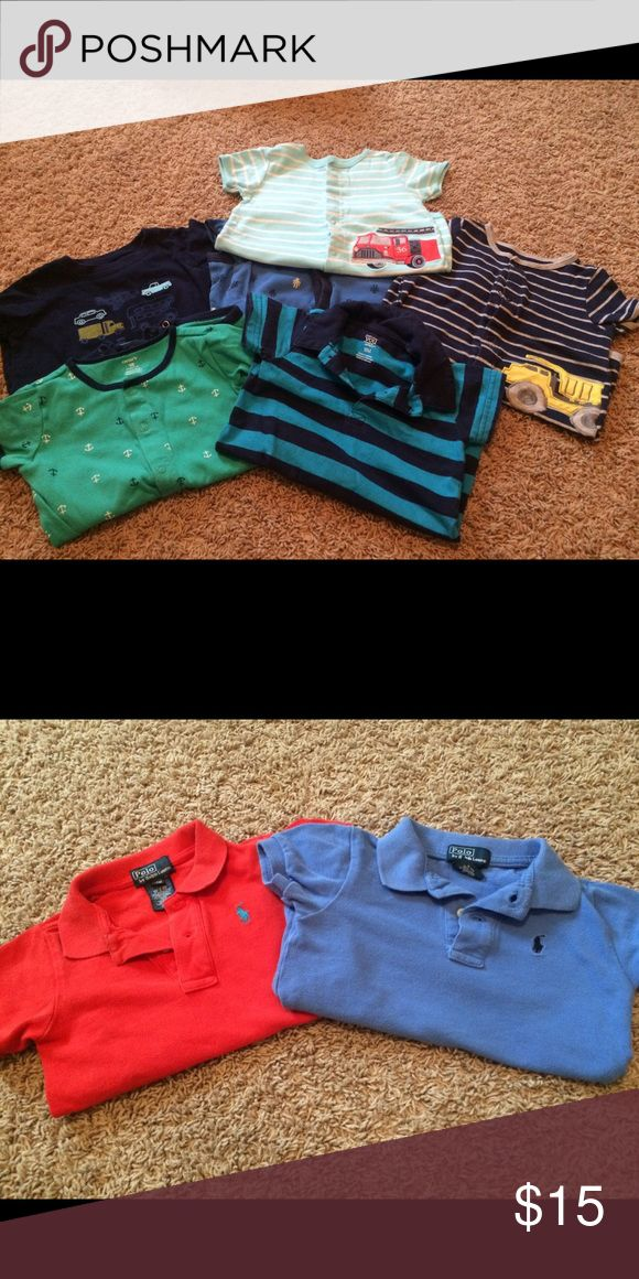 Ralph Lauran polos & Carters bundle Great condition 18M bundle includes two Ralph Lauran polos and six Carters rompers Matching Sets
