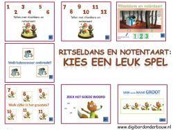Digibordles Ritseldans en notenaart 7 verschillende spelletjes http://digibordonderbouw.nl/index.php/themas/herfst/ritseldans