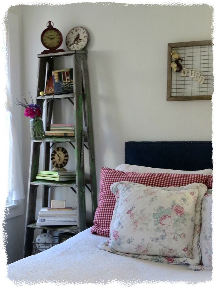 I love the old ladder used as a shelf from Art and Sand.