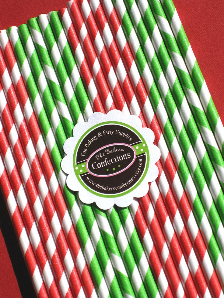 straws - red and green
