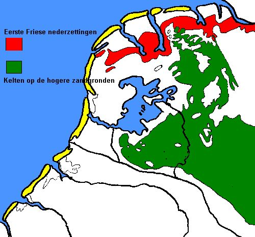 Eerste Friese nederzettingen