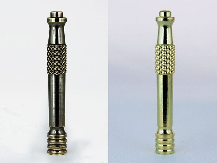 Reminiscent of a Bishop chess piece this new design is an instant classic. Machined from solid bar 360 grade brass, optional pushed patina finish,and coated w