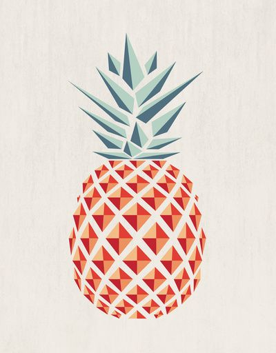 Pineapple  Art Print: Pineapple Illustrations, Patterns, Color Inspiration, Pineapple Art, Pineapple Prints, Geometric Shapes, Art Prints, Graphics Design, Anana