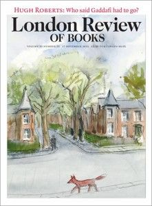 A fox walks past the South London house of Peter Campbell, in his last cover illustration for the London Review of Books. Image: London Review of Books