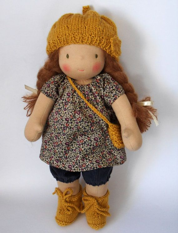Waldorf doll Julie 16 by ruedubonheur on Etsy, $165.00
