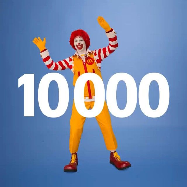 #Thanks to each of you! #10000 #ronaldmcdonald