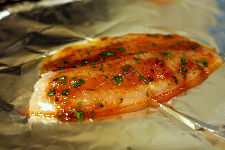 Roasted tilapia in sweet asian chile sauce baked tilapia for Japanese fish recipes