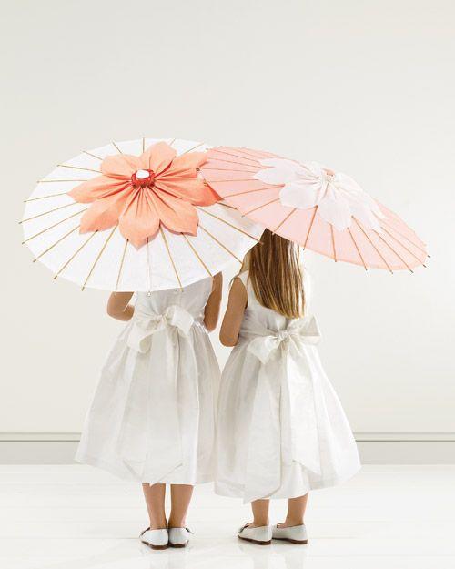 bruidskinderen met parasol