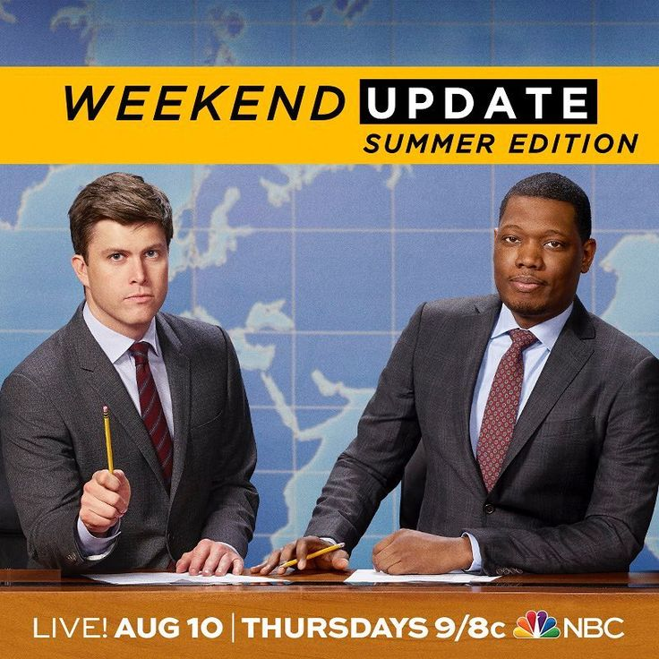 "20.3k Likes, 497 Comments - Saturday Night Live - SNL (@nbcsnl) on Instagram: ""Weekend Update Summer Edition premieres Thursday, August 10 at 9/8c on @nbc. Because news doesn't…"""