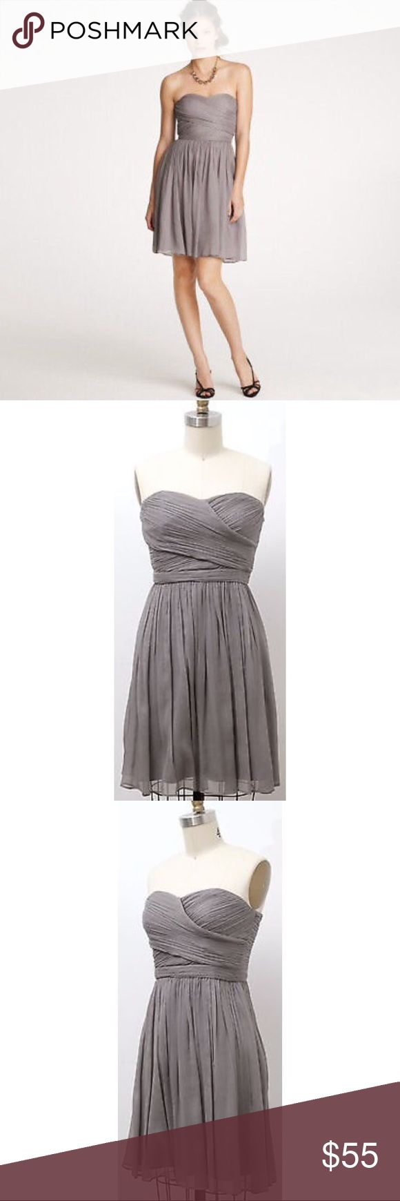 Best 10 charcoal grey bridesmaid dresses ideas on pinterest j crew arabella silk chiffon bridesmaids dress ombrellifo Images