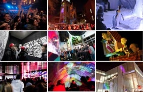 Nuit Blanche à Montréal.  Free admission to the city's museums and more all night long!  If I'm gainfully employed by this time next year, I'm definitely going.