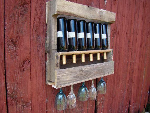 Recycled wine rack SMALL by TheGoAwayWoodshop on Etsy, $60.00