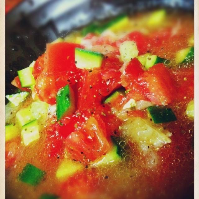 ハマります♡ グレープフルーツがいい仕事してくれます(笑) - 155件のもぐもぐ - ウマ!グレープフルーツのトマトサラダ by izuuu♡