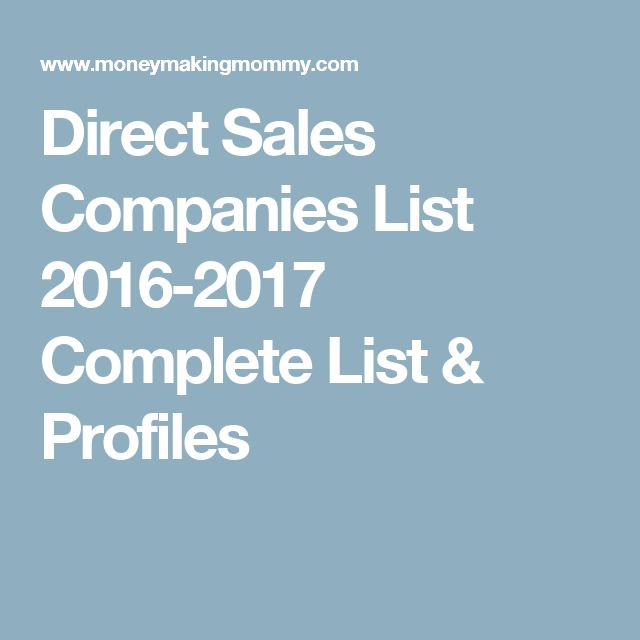 Direct Sales Companies List 2016-2017 Complete List & Profiles