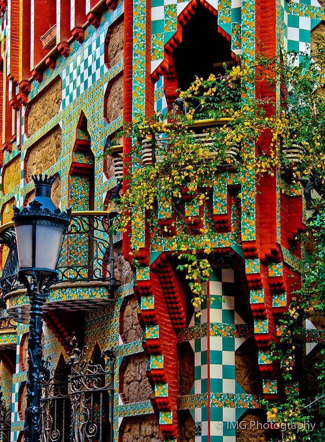 Built in the Gràcia neighborhood of Barcelona in 1888, Casa Vicens was Antoni Gaudi's first major commission. Creative Commons photo by Jorapa. The first major residential work designed by...